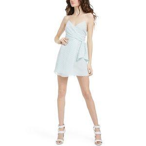 Alice + Olivia NWT Katie Tie Wrap Silk Mini Dress